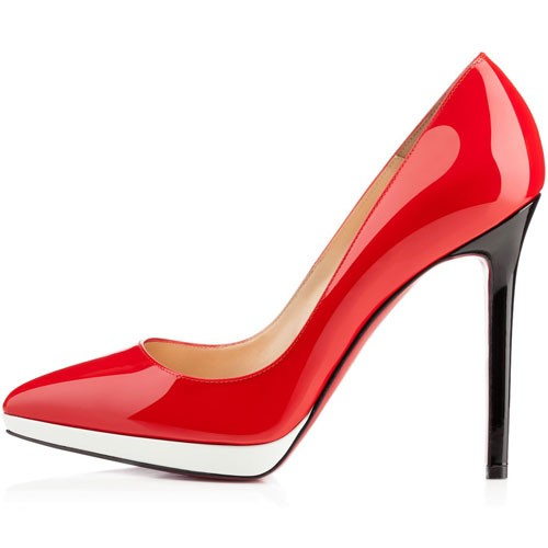 Red Black And White Heels  Tsaa Heel