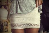 skirt,summer,short,lace,white,clothes,striped skirt,lace skirt,light,crochet,dress,outfit