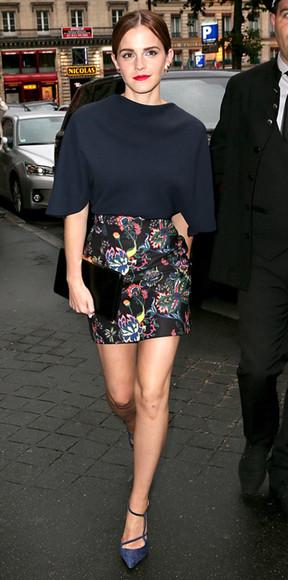 emma watson blouse skirt top