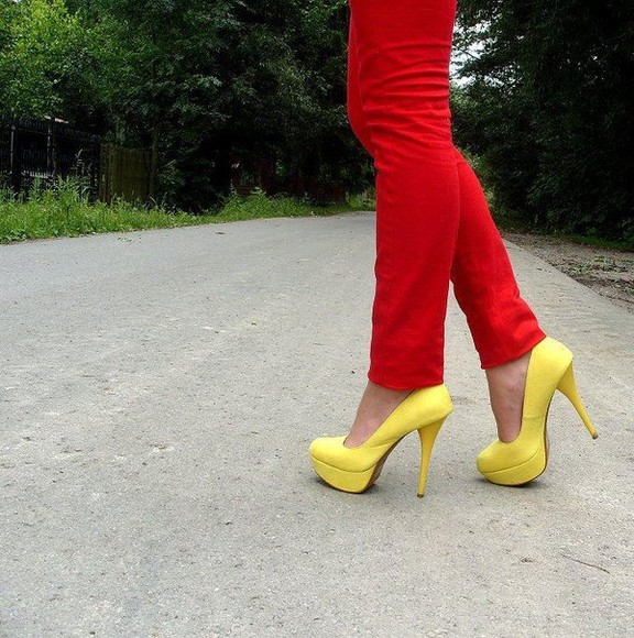 yellow shoes shoes