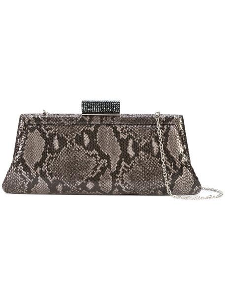 Inge Christopher snake women clutch leather grey bag