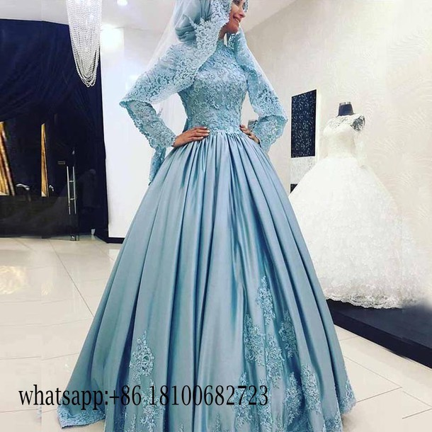 dress, beautyu, arabic muslim evening dresses, long sleeves evening ...