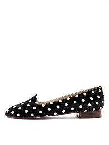 Amazon.com: American Apparel Polka Dot Loafer - White PD on Black / US Size 7: Shoes