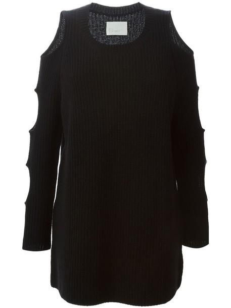 Zoe Jordan tunic women black wool knit top