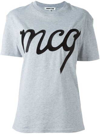 t-shirt shirt embroidered grey top