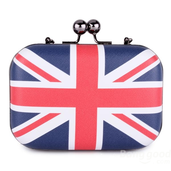 European Flag Chain Mini Bag Women Clip Bag One Shoulder Crossbody - CA$13.97