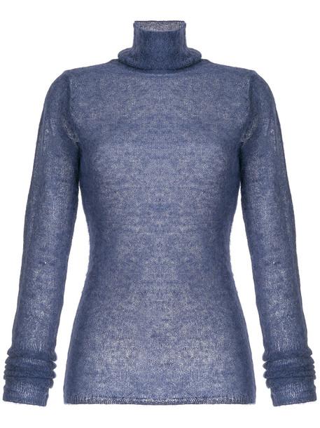 Estnation sweatshirt women blue sweater