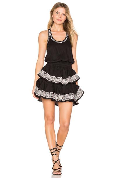LoveShackFancy dress mini dress mini ruffle black