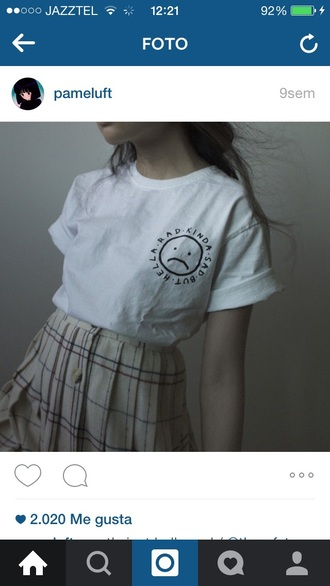 t-shirt white cool pale aesthetic basic tumblr instagram grunge indie girl teenagers style fashion mode moda outfit conjunto estilo skinny skirt beige neo grunge soft grunge aesthetic tumblr grunge t-shirt grunge top indie boho skinny skirt beige skirts soft grunge top