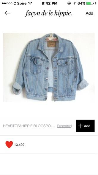 jacket vintage cuffed vintage jacket blue jean jacket blue jeans hipster