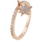18kt rose gold ring with white diamonds