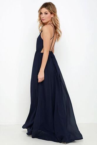 dress formal blue backless lulus