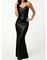Shop long black sequin dress