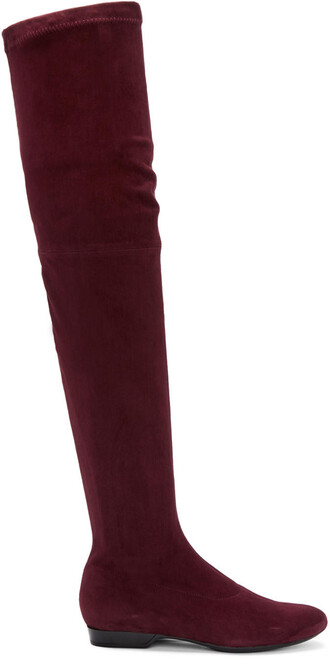 boots suede burgundy shoes