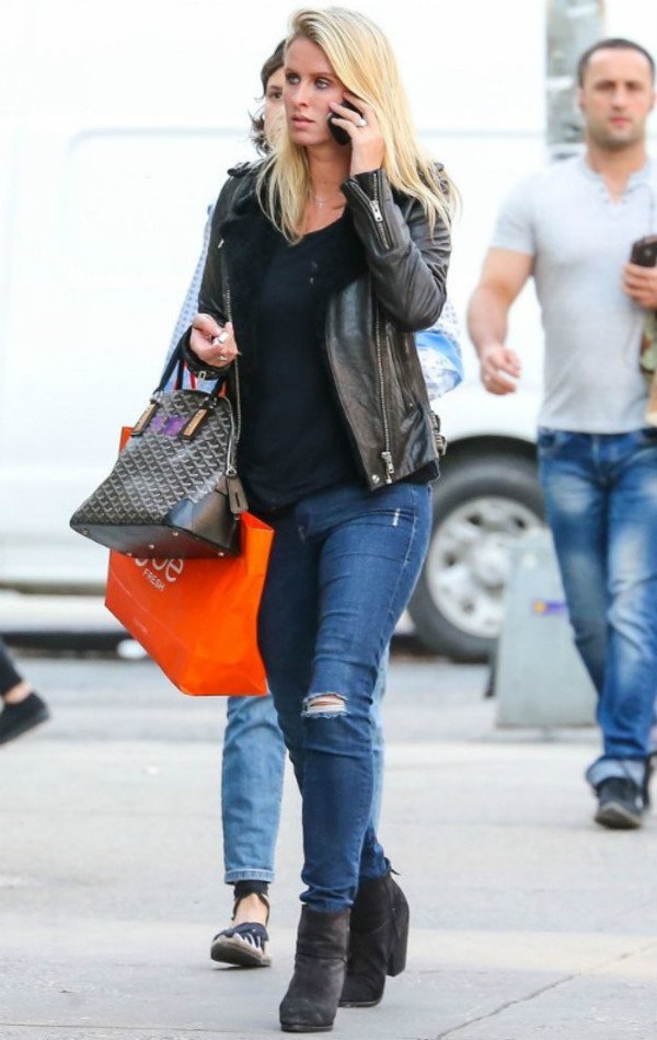 jeans boots jacket leather jacket nicky hilton fall outfits shoes