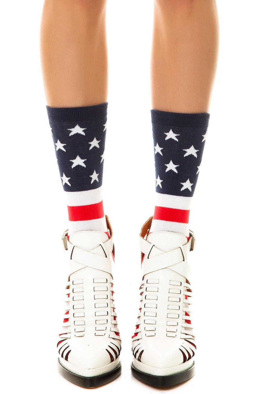 Amazon.com: k. bell women's 1776 flag socks one size multi: clothing