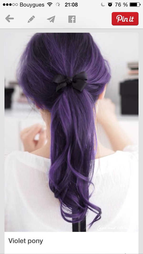 hair accessory colorful purple violet purple hair