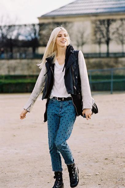 vanessa jackman blogger jeans jacket shoes