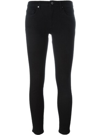 jeans skinny jeans cropped black