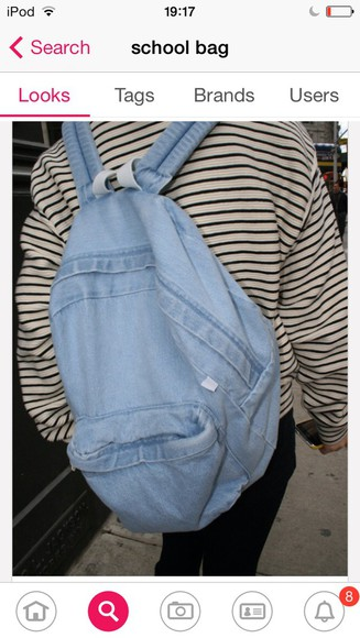 bag denim blue bag school bag denim bag school bag for girl