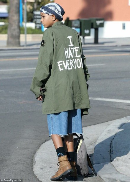 coat jeans willow smith i hate everyone