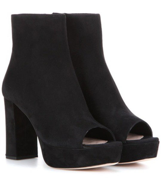 Miu Miu suede ankle boots boots ankle boots suede black shoes