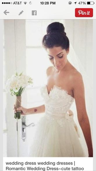 dress wedding dress lace chiffon dress ribbon white dress lace wedding dresses chiffon wedding dress