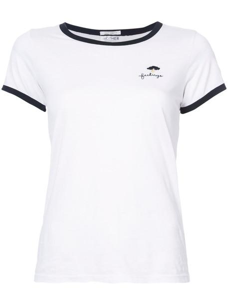 Mother - contrast trim T-shirt - women - Supima Cotton - XS, White, Supima Cotton
