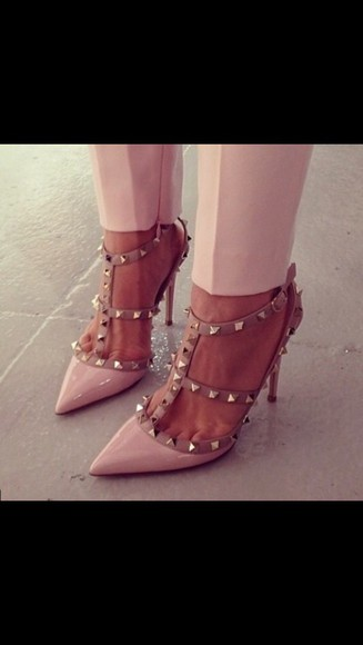 Valentino shoes pumps studded shoes beige