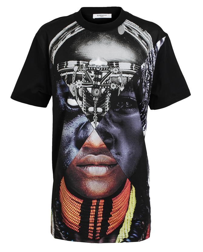 Oversized Face Printed Cotton T-Shirt