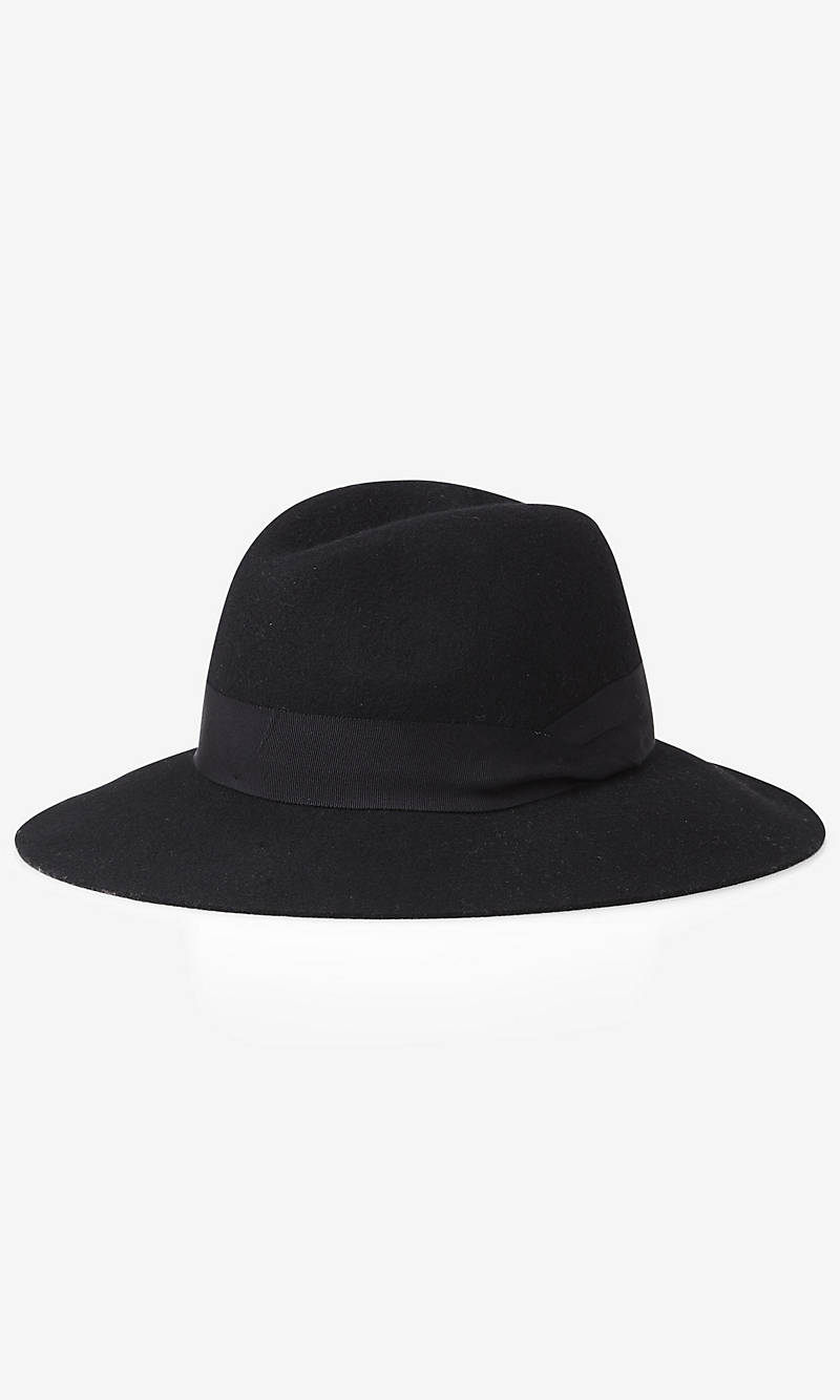BLACK WOOL FELT FEDORA HAT from EXPRESS