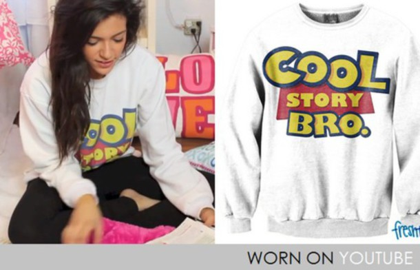 sweater toy story beth white cool story bro cool story bro crewneck white sweater coat sweatshirt