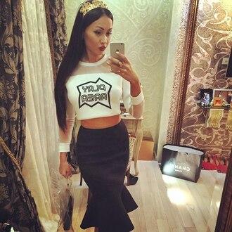 skirt black skirt super