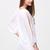 White Split Sleeve V Neck Loose Dress - Sheinside.com