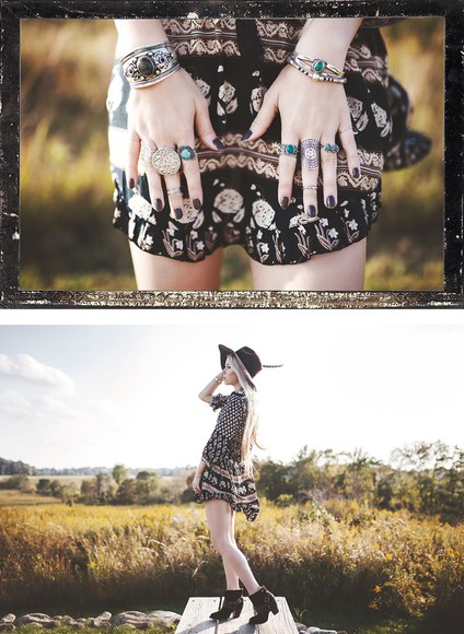 folk boho blogger felt hat jewels fall outfits print ready gypset go gipsy