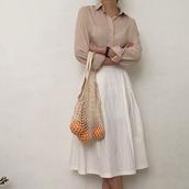 skirt,white,white skirt,modest is hottest,cotton,summer,fashion,midi skirt,summer outfits,pretty,modest dress