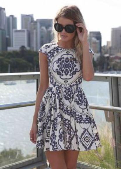 navy dress baroque dress white dress