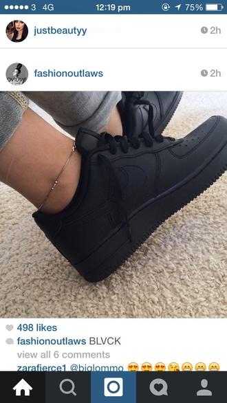 shoes black matte trainers