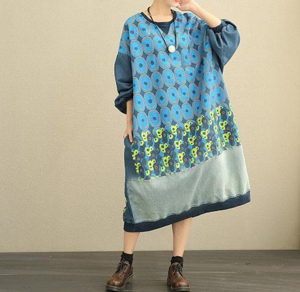 dress maxi dress oversized long dress