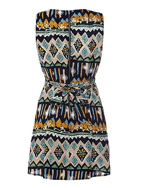 Mela Loves London Tribal v neck dress Multi-Coloured - House of Fraser