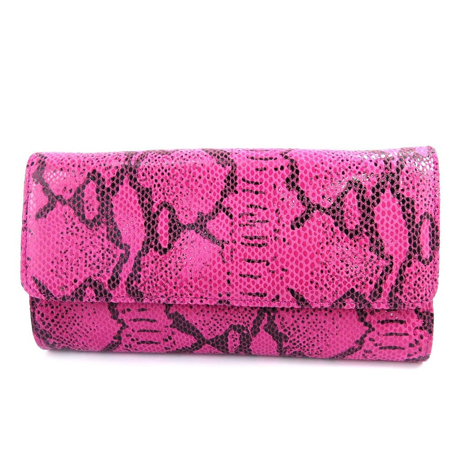 Amazon.com: leather pouch bag 'frandi'rose python (2 folds).: clothing