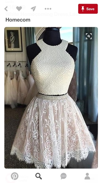 dress white dress pearl top lace skirt homecoming dress short beaded white lace dress short homecoming dress 2016 homecoming dresss homecoming dresses 2016 party dress short party dresses cocktail dress 2016 short cocktail dresses