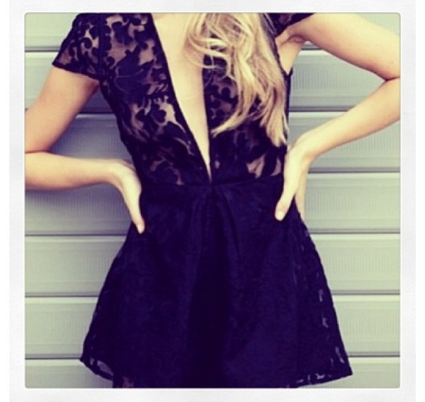 romper black elegant love