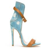 shoes,sandals,denim,denim sandals,emily b,ziginy,flyjane,denim shoes,heels