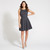 Navy & White Polka Dot Print Skater Dress | Apricot
