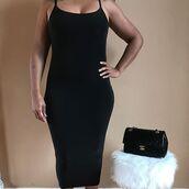 dress,noire la,vue boutique,black dress,kim kardashian dress,spaghetti straps dress,spaghetti strap
