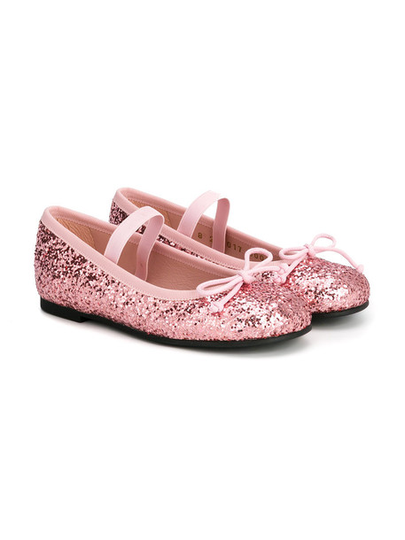 Pretty Ballerinas Kids glitter leather purple pink shoes