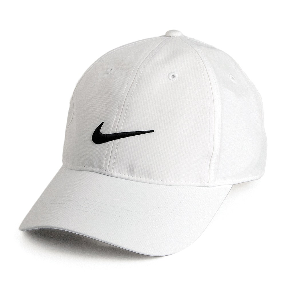 Nike Golf Hats Tech Swoosh Baseball Cap - White from Village Hats.