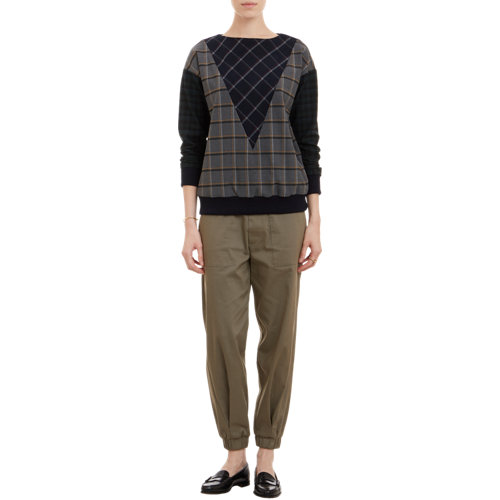 Plaid sweatshirt at barneys.com