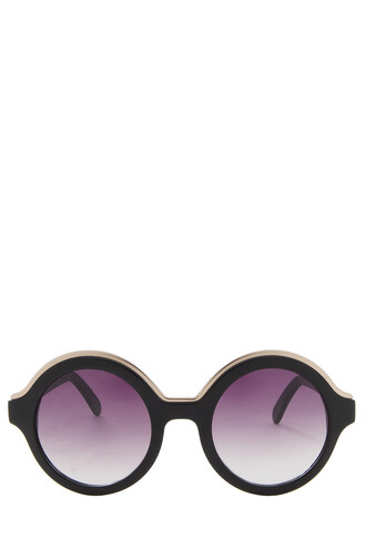 oversized sunglasses round sunglasses black